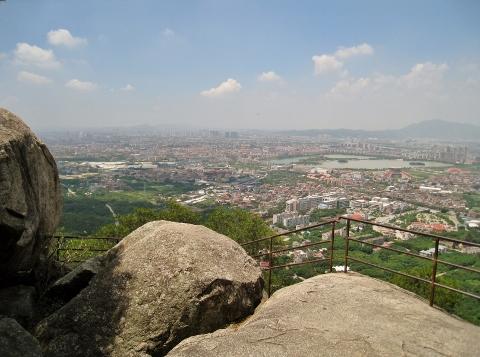清源山ハイキングコースからの眺望