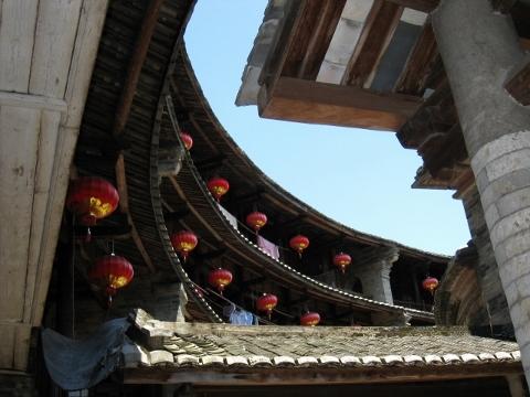 アモイ 土楼(円形建築)の内側