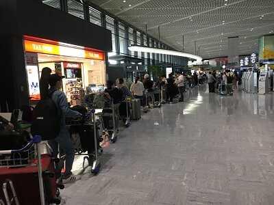 成田空港第1ターミナル4F出発ロビー