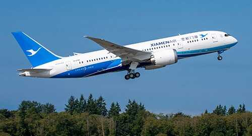 アモイ航空B787機